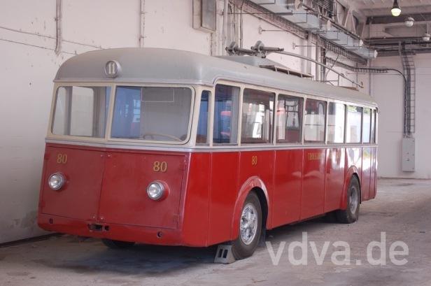 Historischer O-Bus im Depot Hrobonova